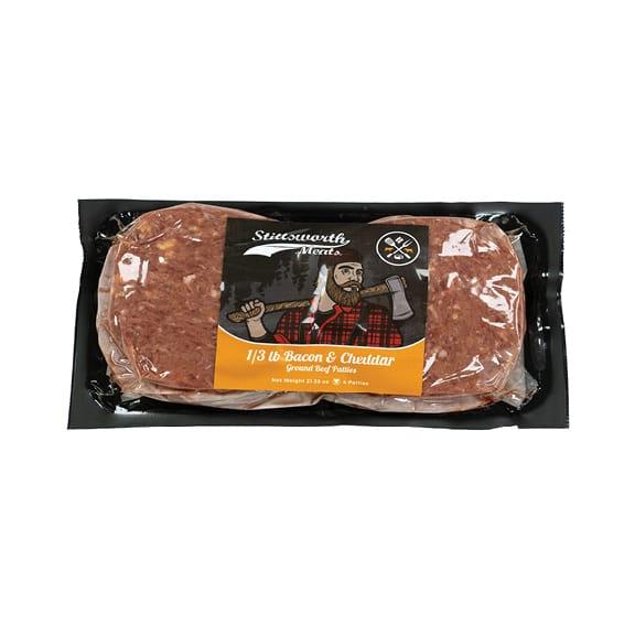 ⅓lb Bacon Cheddar Hamburger Patties