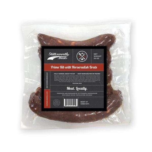 All Beef Prime Rib & Horseradish Cheese Brat